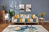 ENLAZY Nordic einfaches Sofakissen 123 Sitz Schnittsofabezüge Universal Durable Furniture Protector für Hunde Haustiere Kinder,Yellow Green,110 * 110