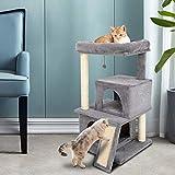 QZJSH Katzenbaum Klein, 86cm sisalseil für kratzbaum,Kratzbaum Kratzbäume Katzenmöbel mit Sisal-Seil Plüsch Liege höhlen Spielhaus Spielzeug für Katzen