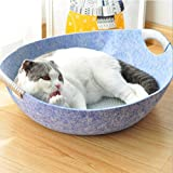 Cat Pot Felt Nest-Sommer-Haustier-Nest Teddy Kennel Kleiner Hund abnehmbar und waschbar Cat House Cat House,Blau