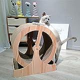 N\A Multi-Level Cat Scratcher Board Riesenrad geformtes Spielzeug Cat Laufband, Bett Scratching Activity Center Katzenmöbel für Kätzchen Katzen und Haustiere