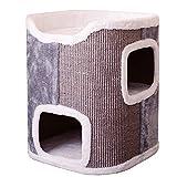 QWV Praktischer Katzenkletterrahmen Kleine Katze Klettergerüst Stable Katze Klettergerüst Haustier Springen Plattform Cat Ständer Cat Spielplatz (Color : Gray, Size : 55cm)