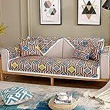 ENLAZY Nordisch minimalistisch digital bedrucktes Sofakissen Chenille Schnittsofabezug Waschbarer Möbelschutz für Kinder,Haustiere,D Brown,70 * 70